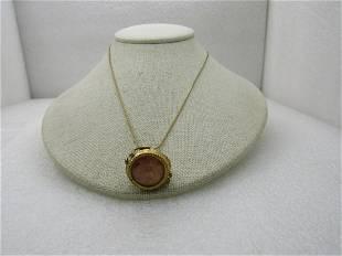 "Vintage Victorian Watch Fob Pendant Necklace, 18"""