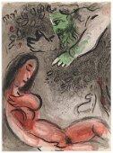 "Marc Chagall ""Eve incurs God's Displeasure"" Bible"