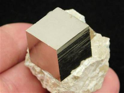 TWO! Pyrite Crystal CUBES on Matrix! Spain 78.3gr