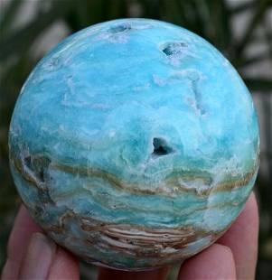 360 Grams Beautiful Top Blue Hemimorphite Sphere