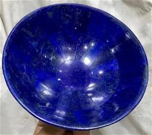 0.3 kg Hand Crafted Lapis Lazuli Bowl Ovel Shape