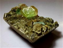 2 KG Fluorite and Aquamarine Combination With Mica -