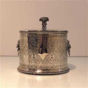 19th Century Antique Victorian Sterling Silver Biscuit
