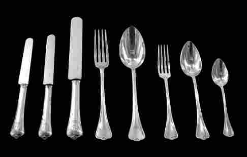 ODIOT - 175pc. FRENCH 950 STERLING SILVER FLATWARE SET