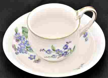 Porcelain tea cup and saucer