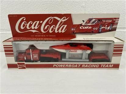 1/64 racing truck trailer die-cast coca-cola powerboat