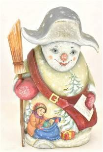 Wooden figur of snowman