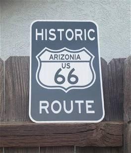 US arizona historic road sign route 66 phoenix aluminum