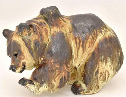 Porcelain figure of bear