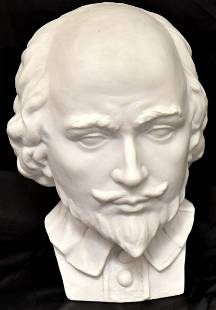 Porcelain bust of William Shakespeare