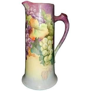 Vintage Hand Painted Signed Pottery Tankard