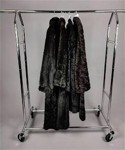 COLLECTION OF 4 FAUX FUR COATS