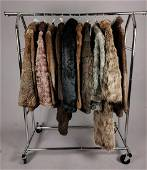 COLLECTION OF 10 FURS COATS/JACKETS