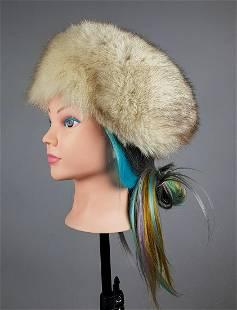 BLUE FOX FUR HAT