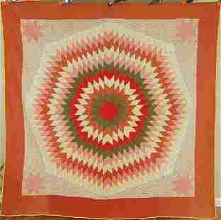 1880's Sunburst / Star of Bethlehem Quilt