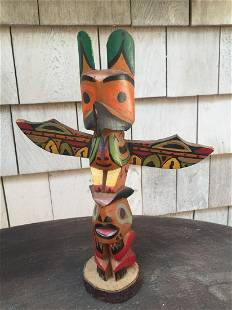 Handcarved Totem Pole Souvenir