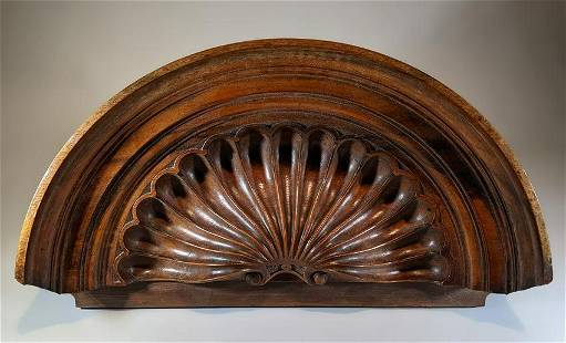 Superb Carving Architectural Stylized Shell