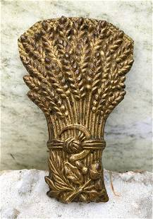 Victorian cast brass wheat papers clip