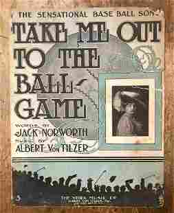 """1908 """"TAKE ME OUT TO THE BALL GAME """" sheet"""