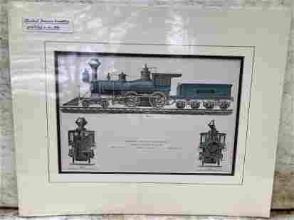 C1880 Standard American Locomotive hand colored