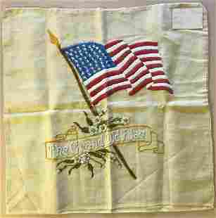 46 STAR AMERICAN FLAG EMBROIDERED PILLOW COVER. –