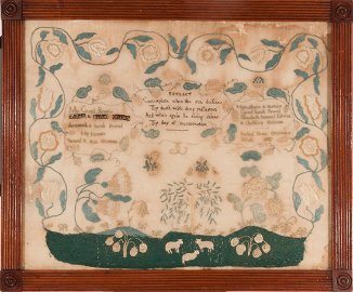 SAMPLER WORKED BY RACHEL DEAN GRISCOM CHESTER COUNTY PA