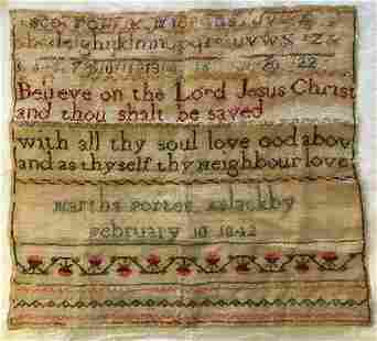 SAMPLER FROM ASLACKBY, ENGLAND BY MARTHA PORTER