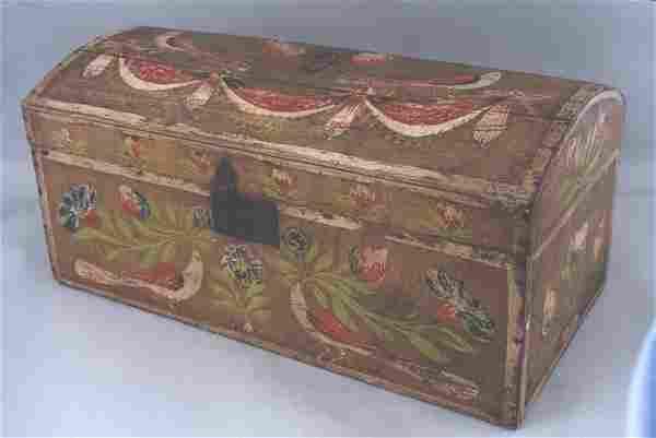 A fine paint decorated Norman brides box