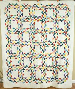 40's Ocean Waves Quilt, All Solid Colors