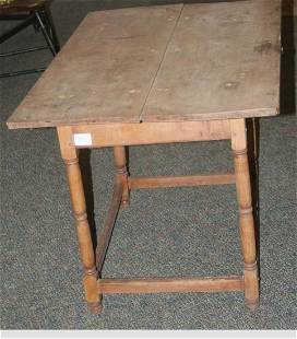 A good late 18th century turned leg stretcher base