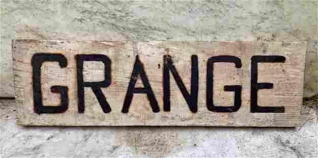 C1940 GRANGE sign
