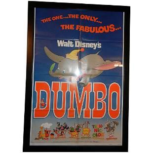 Vintage Original 1972 Walt Disney Dumbo Re-release
