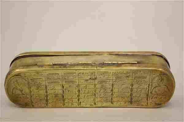 A very scarce 18th century Dutch brass tobacco box made