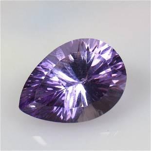 12.67 Ctw Natural Purple Amethyst Concave Cut
