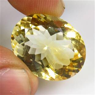 20.45 Ctw Natural Citrine Oval Cut
