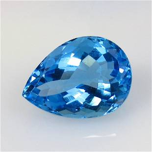 11.71 Ctw Natural Blue Topaz Pear Cut
