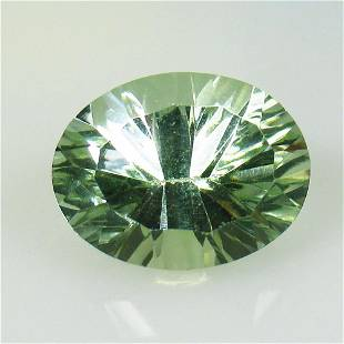 7.74 Ctw Natural Green Amethyst Concave Cut