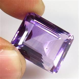 23.97 Ctw Natural Purple Amethyst Octagon Cut