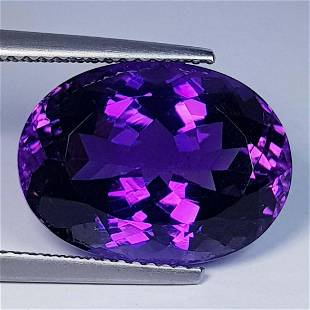 Nathural Amethyst Oval Cut 10.82 Ct