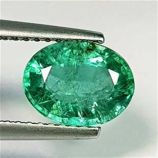 Natural Emerald Oval Cut 1.58 ct