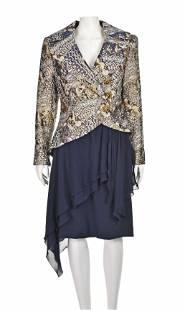 PAUL-LOUIS ORRIER Rare Vintage Jacquard Jacket & Navy