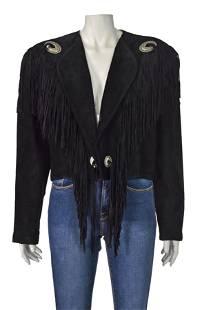 CEDARCREST Vintage Suede Waistcoat Jacket w Fringe &