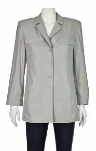 ESCADA Bluish-Gray Tropical Wool Shirt Jacket