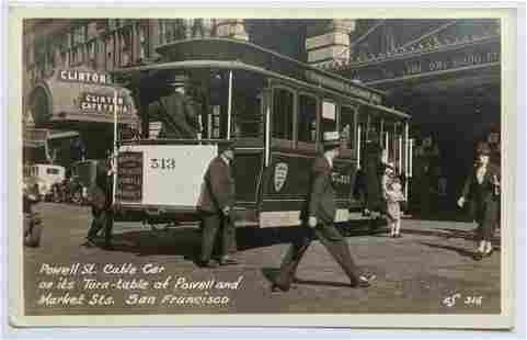 VINTAGE POWELL & MARKET STREET CABLE CAR San Francisco,