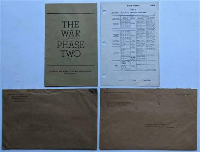 LOT of 2 WWII ERA US GOVT PUBLICATIONS BANKING RE: