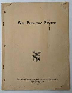 1945 WWII ERA WAR PRECAUTIONS PROGRAM, NAT'L ASSOC.