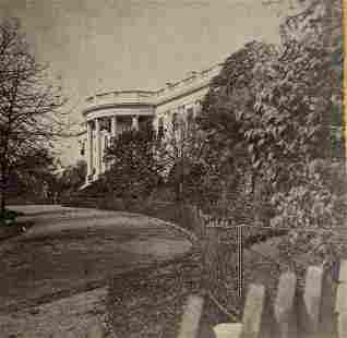 ca. 1880 WASHINGTON D. C. - WHITE HOUSE South Side by E