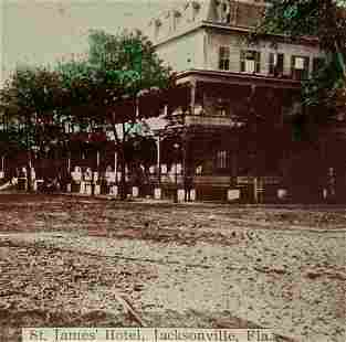 ca. 1890 s HISTORIC VIEW JACKSONVILLE, FLORIDA, ST.