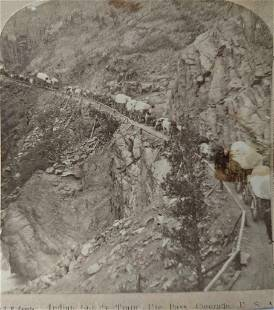 1890 ROCKY MOUNTAIN COLORADO UTE PASS w INDIAN SUPPLY