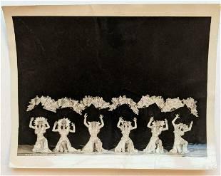 VINTAGE PUBLICITY PHOTO DANCER s BLACK & SILVER REVUE